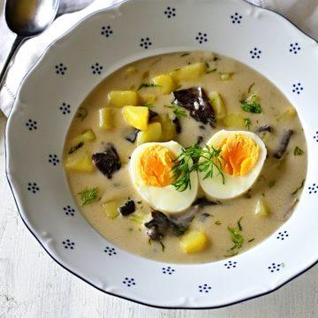 tschechische Kulajda Suppe Rezept