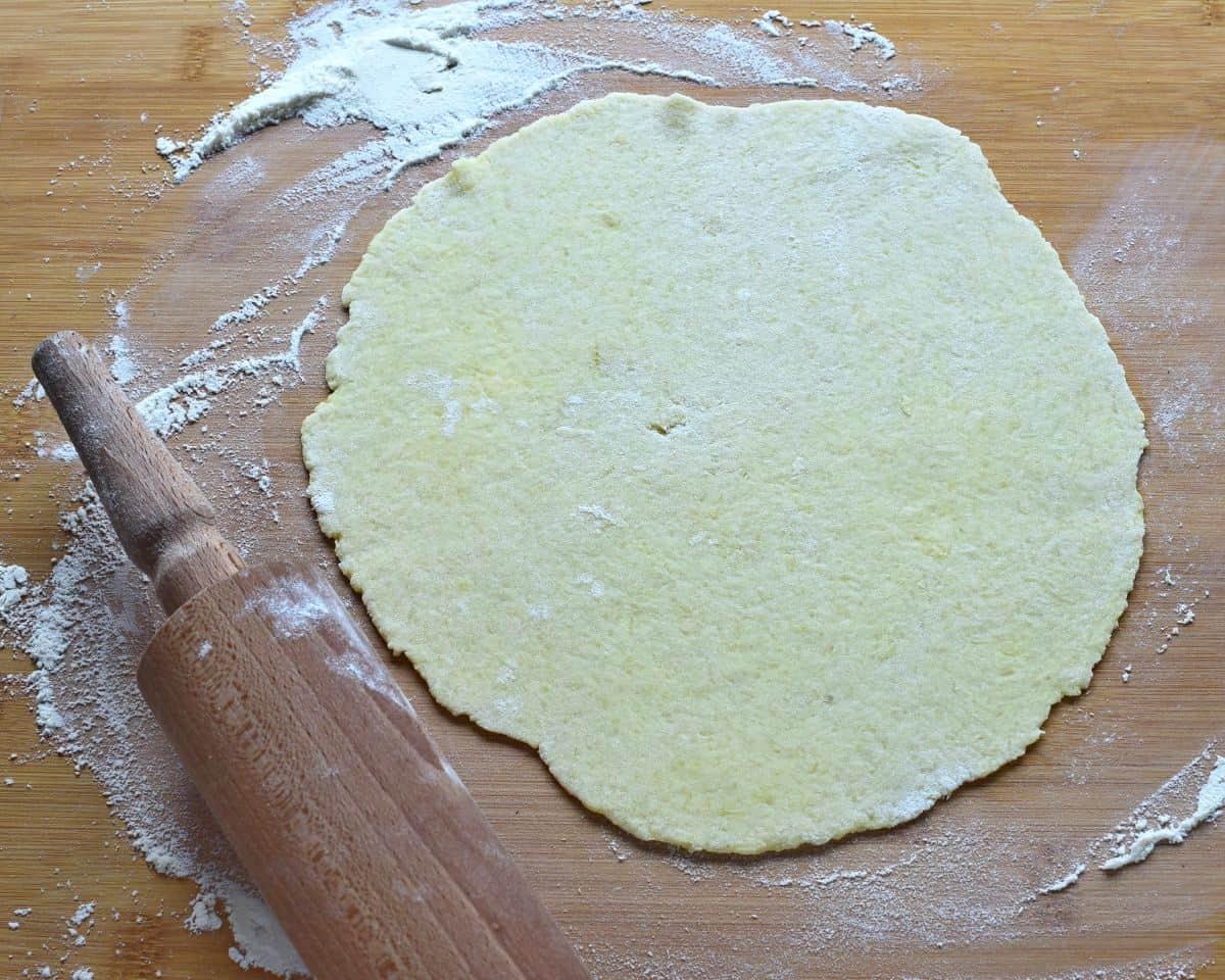 kartoffelnpfannkuchen ausrollen