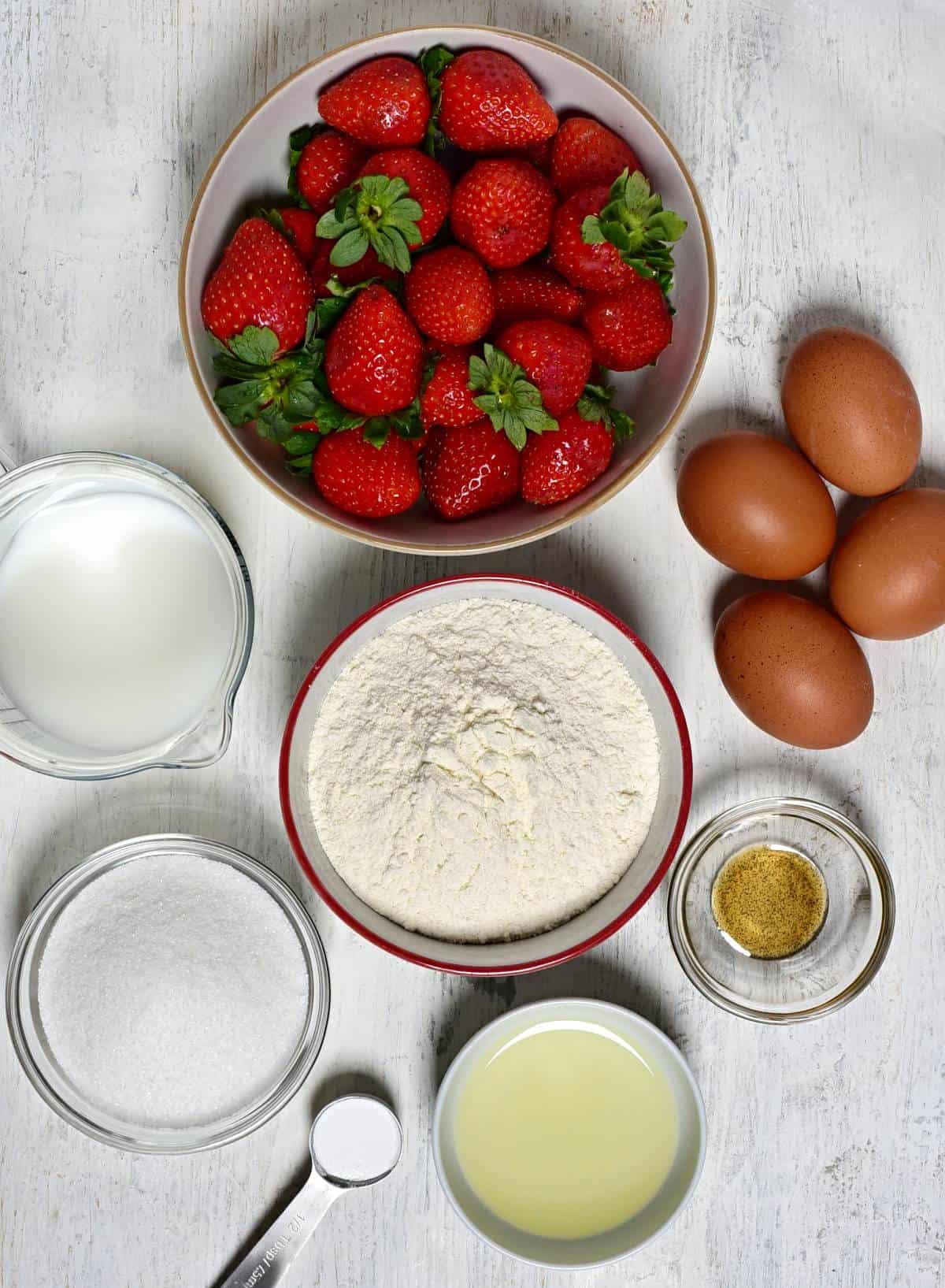 Erdbeer-biskuitkuchen Zutaten