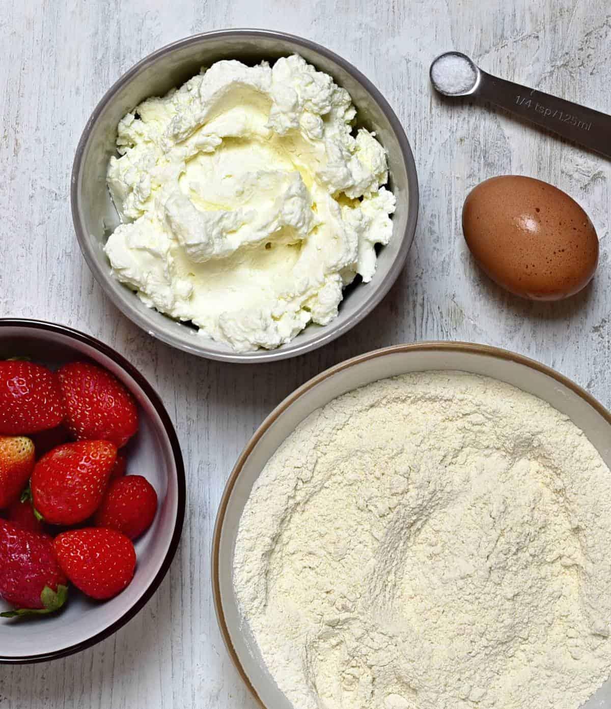 Erdbeer-Topfenknödel Zutaten