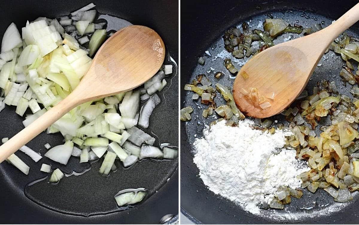 Mehlschwitze mit Zwiebeln zubereiten
