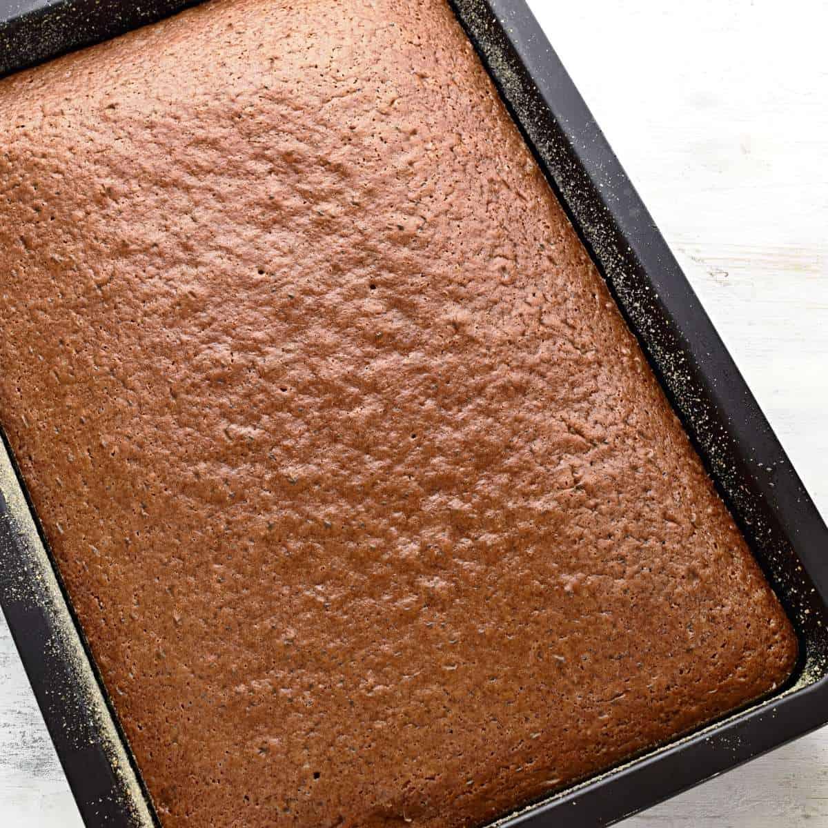 Buttermilchkuchen vom Blech gebacken.